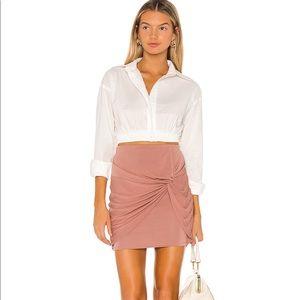 Blush Pink twist front Lovers + Friends Mini skirt